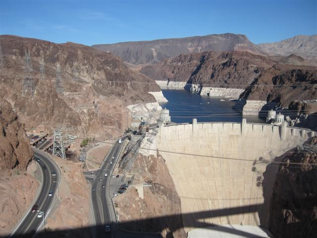 View of the original roadway over the Hoover Dam